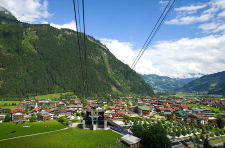 View of Mayrhofen and the Zillertal