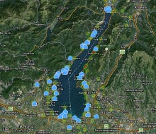Map view Lake Garda
