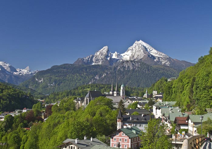 The Watzmann massif towers over Berchtesgaden