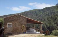 Rustic stone house in the hill of Languedoc