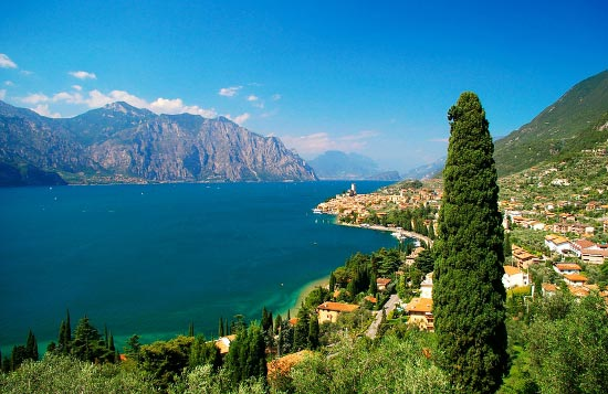 Delightful view towards Lake Garda